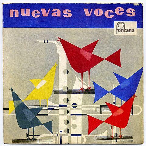 Nuevas Voces, album cover with trumpet