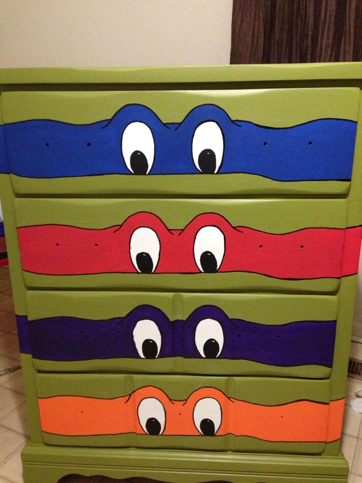 Ninja turtle dresser. 81 best Kirby Room Ideas images on Pinterest   Ninja turtle