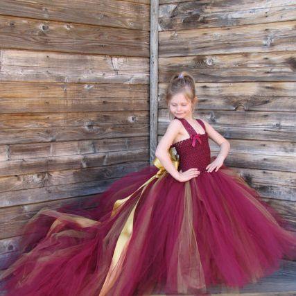 Девочка ну вечеринку платье длинная поезд задняя часть с съёмный золото бант…