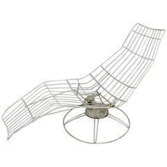 Homecrest Metal Wire Banana Lounge Chair