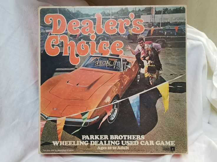 VTG 1972 PARKER BROTHERS DEALERS CHOICE USED CAR LOT BOARD GAME #ParkerBrothers
