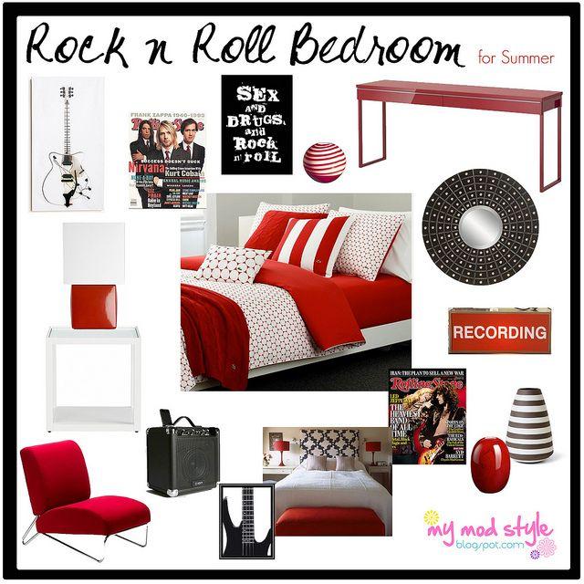 Design Board   Rock N Roll Bedroom By Jessie {my Mod Style}, Via
