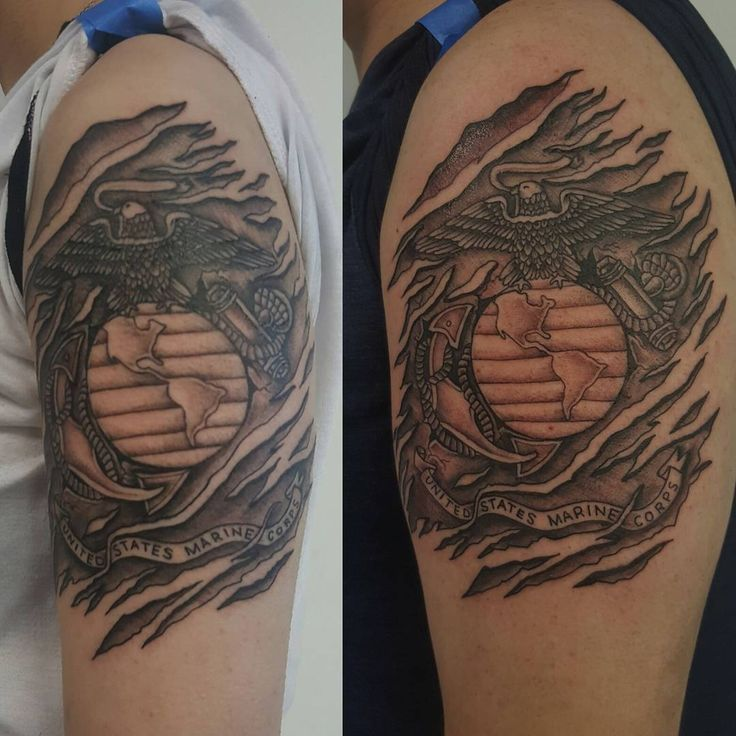 The 100 Best Marine Tattoos for Men in 2020 (With images