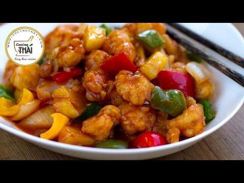 Cocino Asia: Pollo Agridulce - Cocina Asiática (China) - YouTube