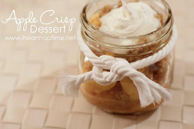 Apple Crisp in a jar.... mmm
