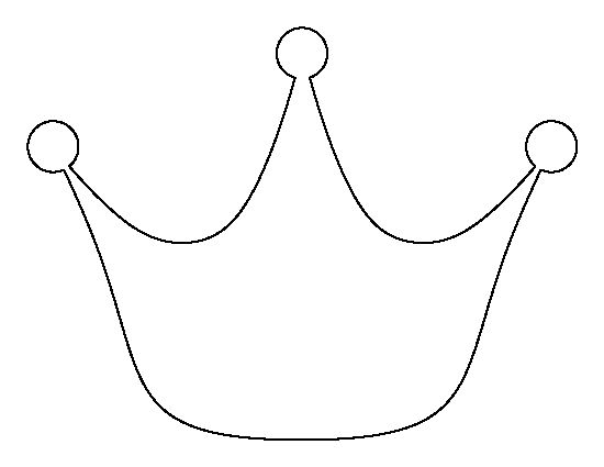 Princess crown pattern. Use the printable outline for crafts, creating stencils, scrapbooking, and more. Free PDF template to download and print at http://patternuniverse.com/download/princess-crown-pattern/