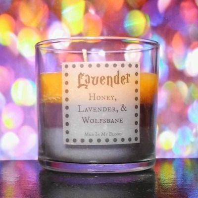 Lavender brown scented 4oz candle- honey, lavender, and wolfsbane