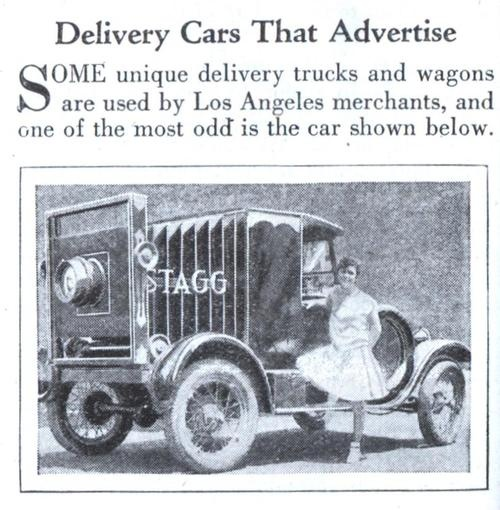 Delivery Cars That Advertise- 1930