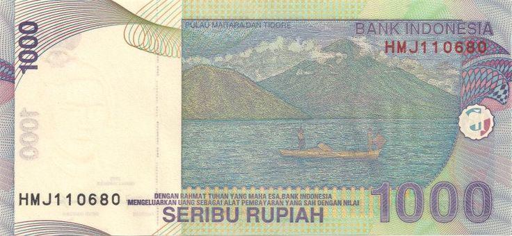 Rückseite: Geldschein-Asien-Indonesien-Rupiah-1000-2013