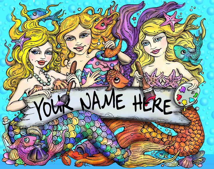 The perfect gift for mermaid lovers everywhere. Personalized mermaid print for your home. 8x10 $50 unframed or $100 printed on metal, ready to hang. Cash or check, contact ed@edhose.com