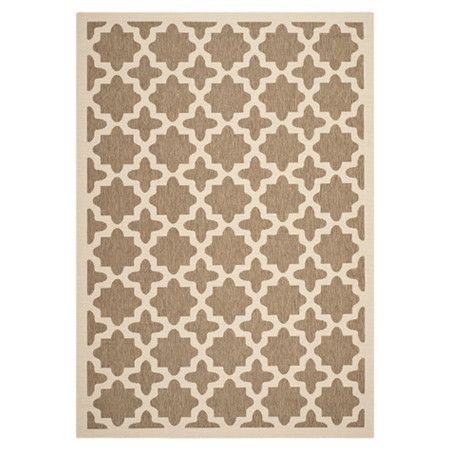 safavieh indoor outdoor courtyard collection brown bone rug x