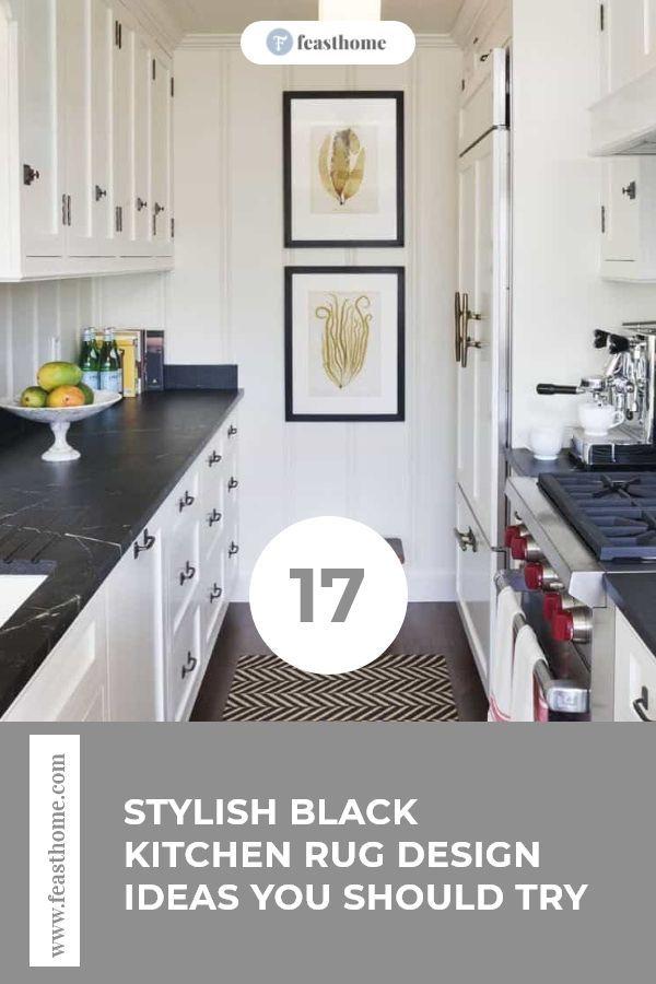 17 Stylish Black Kitchen Rug Design Ideas You Should Try ...