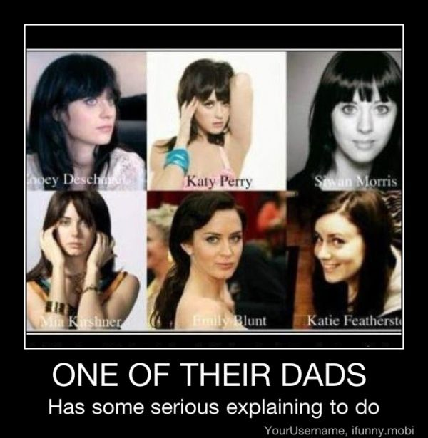 Thoughts, Laugh, Emily Blunt, Katy Perry, Funny Stuff, Humor, Zooey Deschanel, Dads, Looks Alike