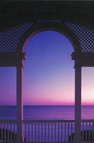 Evening sky on the beach