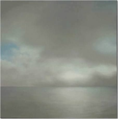 """""""Gray is the color... the most important of all... absent of opinion, nothing, neither/nor."""" —Gerhardt Richter [Gerhard Richter, 1969, Seascape (Slightly Cloudy), oil on canvas, 783/4 x 783/4 in. (200 x 200 cm)]"""