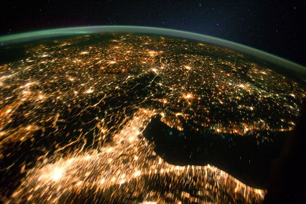 Central and Eastern Europe at night on 2nd October 2011.