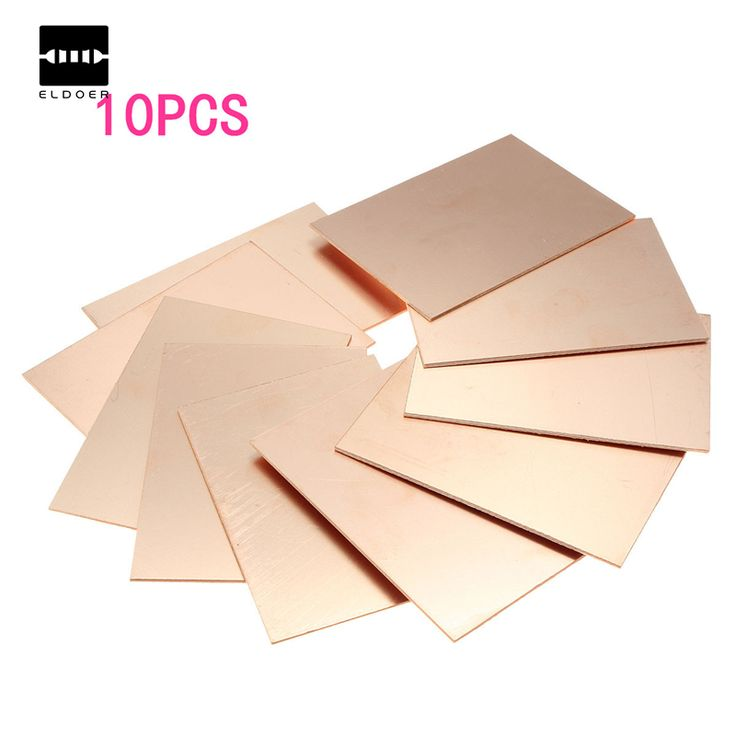 Hot Sale The Best Price 10pcs/lot FR4 PCB Single Side Copper Clad DIY PCB Kit Laminate Circuit Board 70x100x1.5mm Free Shipping