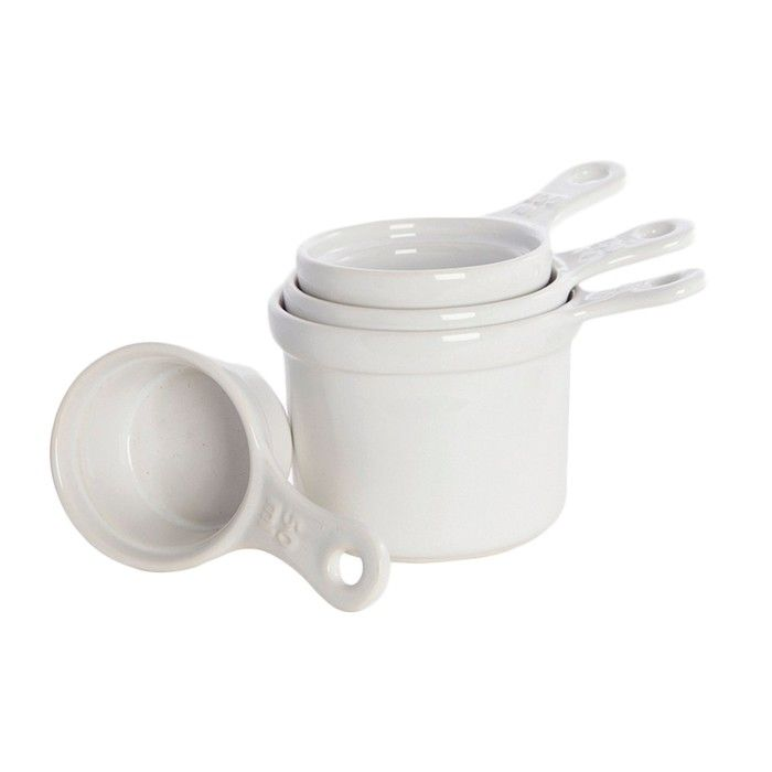 Set 4 tazas medidoras de cerámica en caja regalo