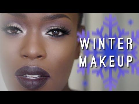 Winter Makeup | Dark Skin Dark Lips - YouTube