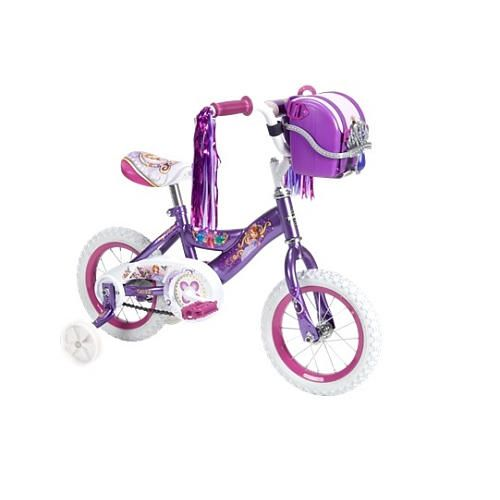"The Huffy Disney Sofia the First 12"" Girls Bike is perfect for new bike riders, who are familiar with Disney Jr.'s fun and adventurous Sofia."