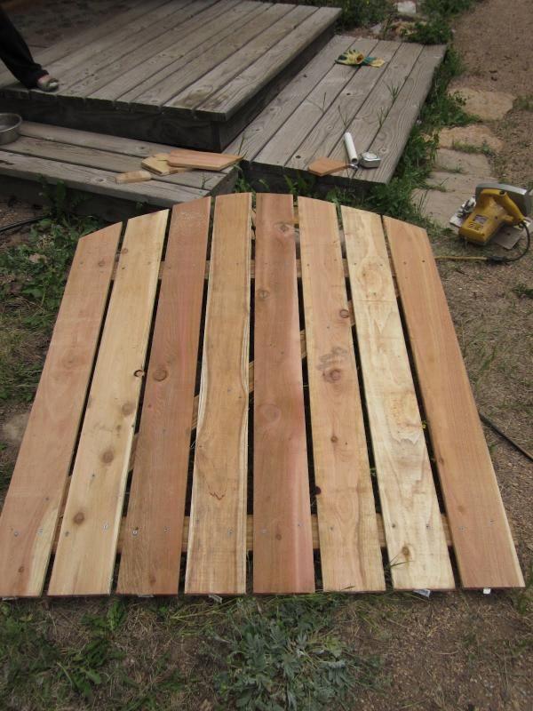 Gartentor aus Holz bogen rahmen zusammen bauen