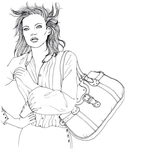 Fashion Coloring Page Adult Coloring
