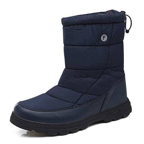 c26a8dd5bf8e Chic Coolloog Mens Snow Boots Women Winter High Boots Waterproof Non Slip  Warm Fur Lined.