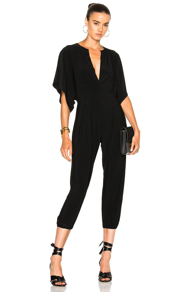 Norma Kamali Rectangle Jog Jumpsuit in Black $145.00