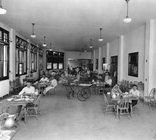 Waverly Hills Sanatorium dining room, Louisville, Kentucky, 1926. :: Caufield & Shook Collection