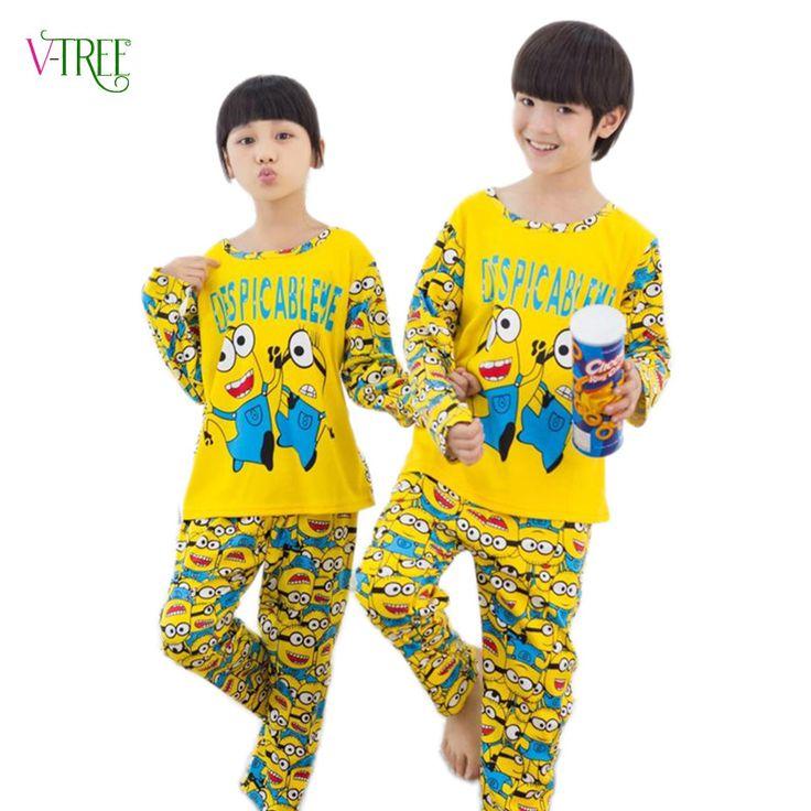 ==> [Free Shipping] Buy Best V-TREE Children Pyjamas Kids boys Girl Sleepwear Pijama Online with LOWEST Price | 32684009205