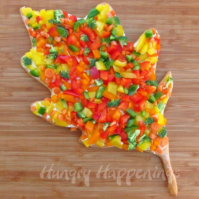 Edible Crafts For Kids To Make Part - 32: Hungry Happenings: Veggie Pizza Leaves Make Colorful Appetizers For  Thanksgiving Or Fall!