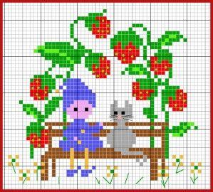 les fruits poussent toute l'année et peuvent atteindre une taille... respectable ! Aujourd'hui, je vous emmène dans le carré des fraises... Avec une seule fraise, vous avez, au choix, un pot de confiture ou bien deux tartes ! Téléchargement : clic Antoine...