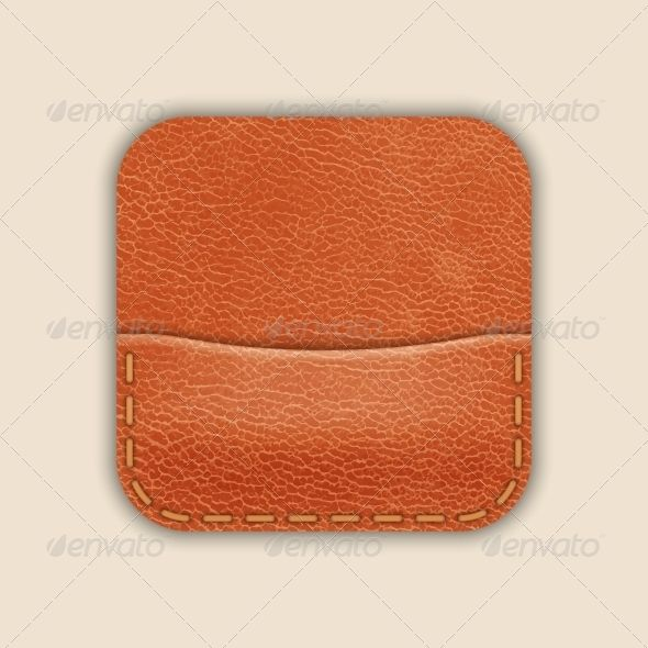Natural Leather Pocket or Wallet App Icon