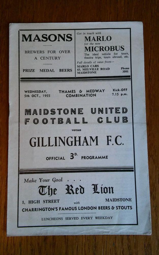 MAIDSTONE UNITED v GILLINGHAM 1955/56