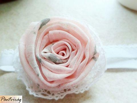 Mini rózsa hajpánt, Baba-mama-gyerek, Ruha, divat, cipő, Hajbavaló, Hajpánt, Varrás, Meska