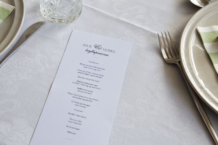Wedding // Menu