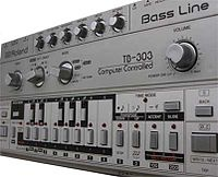 Roland TB-303: The bass line synthesizer that was used prominently in acid house.