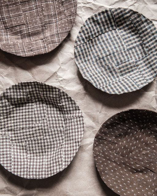 Fabric Mâché Plates - http://www.sweetpaulmag.com/crafts/fabric-ma-che-plates #sweetpaul
