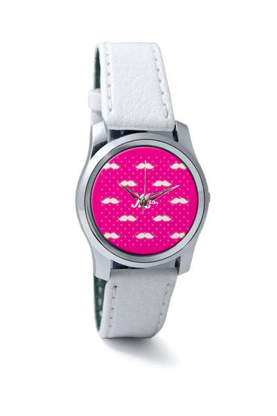 Women Wrist Watch India | Mrs. Moustache Quirky Pattern Wrist Watch Online India