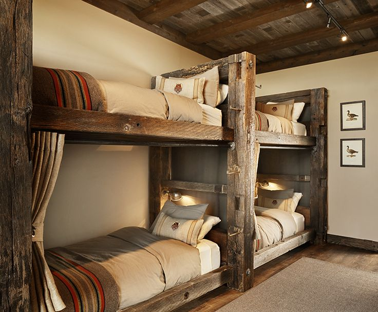 Best 25 Rustic Bunk Beds Ideas On Pinterest