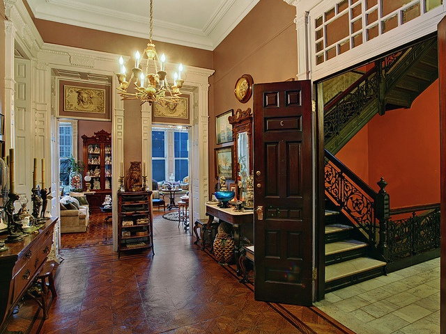 New york west 57th street victorian interior brownstone for New york brownstone interior design