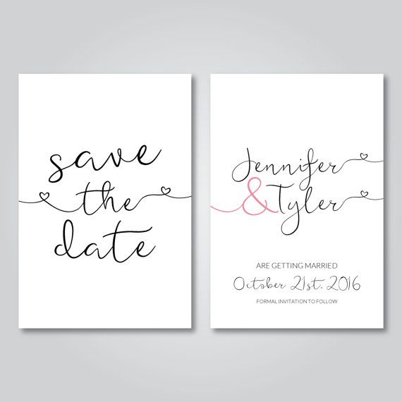 Save the date, Printable, Wedding invitation, Digital download, Minimal save the date, Minimal wedding invite, Minimalist save the date