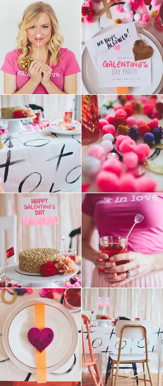 host a galentine 39 s day party for your lady friends stir. Black Bedroom Furniture Sets. Home Design Ideas