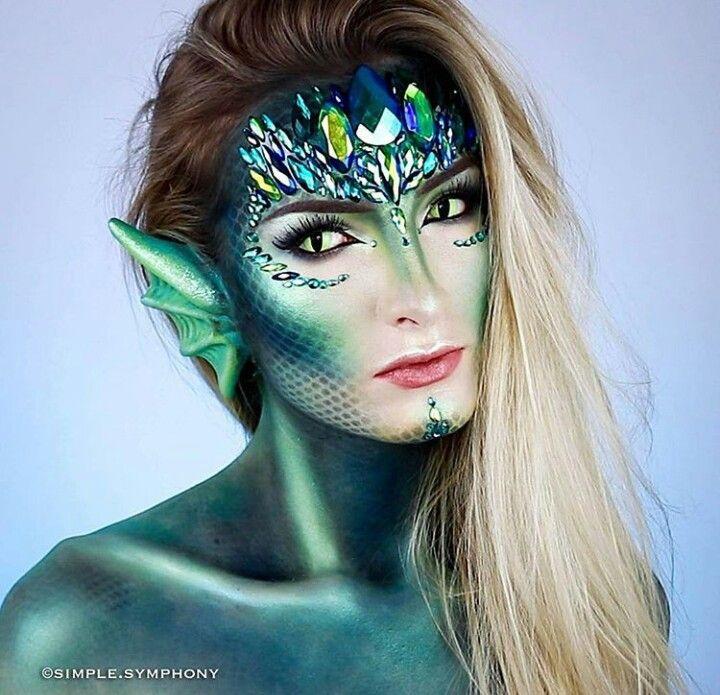 Mermaid Maquillaje De Sirena Maquillaje De Cara De Halloween Maquillaje Halloween Fantasia