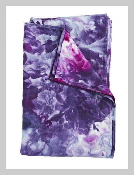 Magenta & Violet Linen Throw