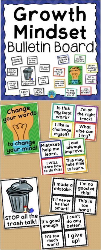 Growth Mindset classroom bulletin board posters