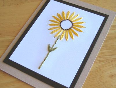 sunflower card pattern