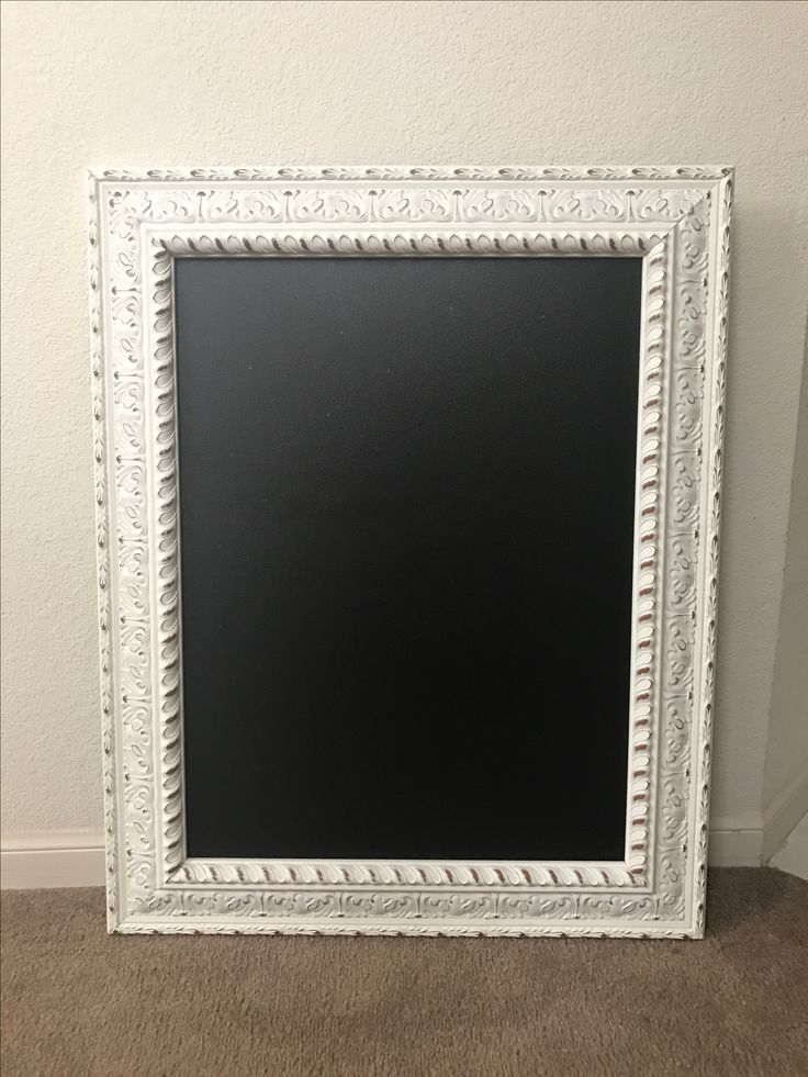 the chalk board is about 20x27 and the actual frame is about