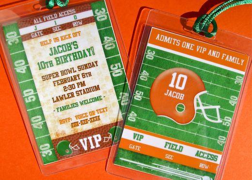 "Invite ""Football Birthday Party"" | Catch My Party"