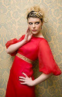Red silk maxi